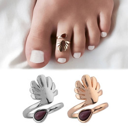 dd3c617e5 Purple Dripping Gemstone Adjustable Toe Ring Open Foot Finger Ring Jewelry  Accessories Gift