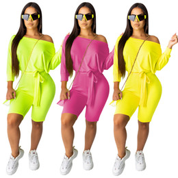 $enCountryForm.capitalKeyWord Australia - 2019 Autumn and Winter New Arrivals Batwing Sleeve Belted Plus Size Playsuits Womens Yellow Jumpsuits Sashes Bodysuits Monos