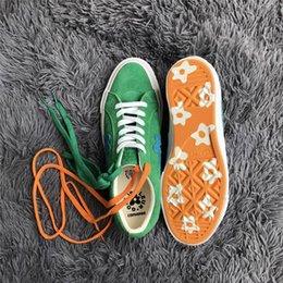 $enCountryForm.capitalKeyWord NZ - 2018 The Creator One Star x Golf Le Fleur TTC Men Womens Yellow Green Skateboard Fashion Sneakers Designer Canvas shoes(2 Laces,Box)