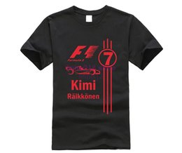 free clothe Australia - Cool Kimi Raikkonen T Shirts Fashion Men T-Shirt O Neck Mens tshirt Free Shipping Man Tops Clothing
