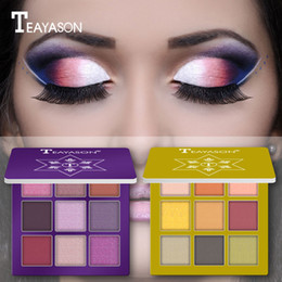 green eye shadow palette Australia - Eye shadow Palette Cosmetic Matte Eyeshadow Cream Makeup Palette Shimmer Set 9 Colors Eyeshadow Portable convenient