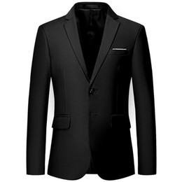 55999225b91 Mens Gentleman Business Non-iron Two Button Notched lapel Formal Blazers  Slim Fit Suits for Male Jackets 2019 Casual Mans Coats