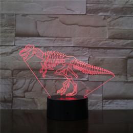 $enCountryForm.capitalKeyWord Australia - Dinasour Bone 3D Optical LED Lamp Illusion Light Acrylic Light Panel Gift Decoration Battery Bin DC 5V USB Powered Factory Wholesale