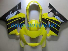 Black Body Honda Australia - Injection Customized Fairing set for HONDA CBR600F4 99 00 CBR600 F4 1999 2000 CBR 600 F4 600F4 CBR600 yellow black Fairings body kit HP68
