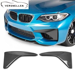 $enCountryForm.capitalKeyWord Australia - Carbon Fiber Front Bumper Front Lip Skirt Front Corner Side Splitter Apron Flaps for BMW M2 F87 2014
