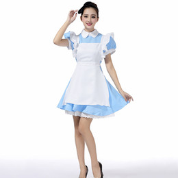 8c6be7e3a2b Halloween Maid Costumes Womens Adult Alice in Wonderland Costume Suit Maids  Lolita Fancy Dress Cosplay Costume for Women Girl