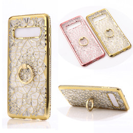 $enCountryForm.capitalKeyWord Australia - Bling Diamond Flower Plating TPU Ring Stand Case For iPhone XR XS MAX X 8 7 6 Samsung S7 Edge S8 S9 Plus S10 S10E Note 9 J4 J6 J8 A6 A8 2018