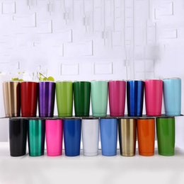 $enCountryForm.capitalKeyWord NZ - 20oz Beer Cups Stainless Steel Car Mugs Large Capacity Double Layer Sports Mugs Travel Mugs With lid Car Cups 19 Colors ZZA335 20pcs