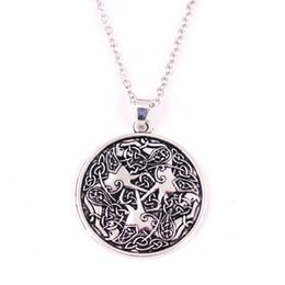 Vintage Necklaces Unisex Australia - HY122 Animal jewelry wholesale Viking vintage Horse shape talisman charm necklaces Equine Amulet pendant necklace for unisex