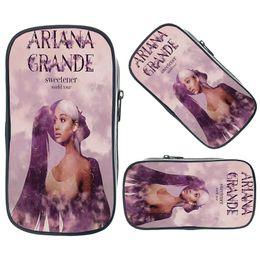 $enCountryForm.capitalKeyWord Australia - Ariana Grande Pencil Case Bag Cartoon Printing Purse Wallet Student Pen Bag Children School Pouches Boys Girls Organizer Wallets