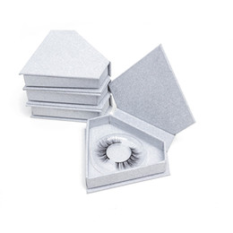 Vente en gros 20pcs / lot Brillant Ruban Diamant Fale Cils Emballage Boîte Vide Logo Vide Blanc Faux Vis De Cils Faucl Cils Cas Do Logo