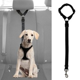 Discount safety lead clips - Dog Cat Pet Safety Adjustable Car Seat Belt Harness Leash Travel Clip Strap Lead