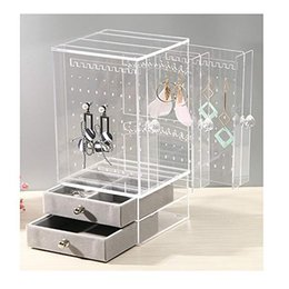 $enCountryForm.capitalKeyWord Australia - New Acrylic Jewelry Organizer Box For Necklace Display Storage Case Earrings Bracelet Hanger Decoration Girls Gift Women Makeup J190713