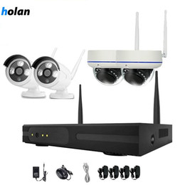 nvr camera systems 2020 - Holanvision 4pcs 4CH Wireless Security Camera System WiFi Camera Kit NVR 720P Night Vision IR-Cut CCTV Home Surveillance