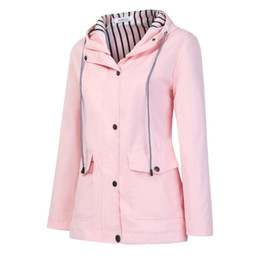 Spring autum online shopping - Spring Autum Women Solid Rain Jacket Coat Women Outdoor Jackets Plus Size Hooded High Quality Warm Cotton Coats New Outwear
