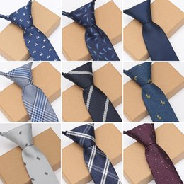 wedding dress shirts for men NZ - XGVOKH Men Zipper Lazy Ties Business Necktie for Man Tie Easy To Pull Rope Neckwear Wedding Ties Fashion Shirt Dress
