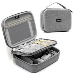 mobile gadgets 2019 - EVA Oxford Fabric Waterproof Mobile Power Storage Bag USB Data Cable Headset Travel Storage Digital Gadget Kit Bag D40 c