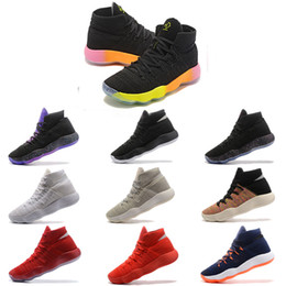 Cut Knit Fabric Australia - Hyperdunk 2017 Fly Sneakers Knit Star Outoors Basketball Shoes Coloful Mens Trainers Sports Sneakers For Exercise