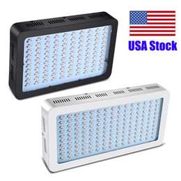 1000W Full Spectrum LED Grow Light square double chip LED Grow Light for hydroponics plant growing lights white housing body or black on Sale