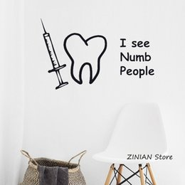 $enCountryForm.capitalKeyWord Australia - Dentist Numb People Funny Teeth Wall Art Stickers Decals Vinyl Home Room Decor Child Room Bedroom Wall Decal Wallpaper