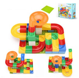 Plastic Play Blocks Australia - Block Accessories suzakoo large particle assembly slide track building interconnecting blocks toy for children playing