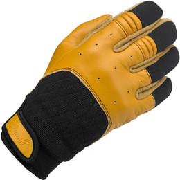 $enCountryForm.capitalKeyWord UK - 2018 Retro Leather Motorcycle Gloves Cycling Riding Racing Moto Motorbike Glove Bantam Vintage Motocross Gloves for Biltwell