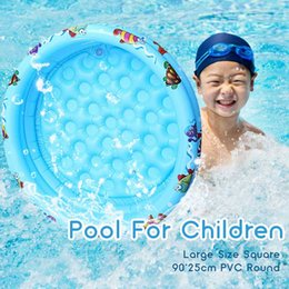 inflatable tub pool UK - Large Size Baby Swimming Pool Removable Inflatable Round Children Play Ball Pool Child Summer Water Toys Kids Bath Tub 90*25cm