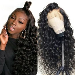 $enCountryForm.capitalKeyWord UK - Celebrity 360 Lace Frontal Wig Pre Plucked With Baby Hair Brazilian Water Wave Curly 360 Lace Front Human Hair Wigs For Black Women