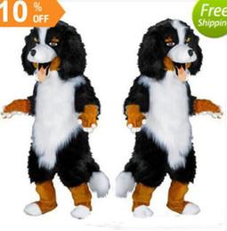 $enCountryForm.capitalKeyWord Australia - Fast design Custom White & Black Sheep Dog Mascot Costume Cartoon Character Fancy Dress for party supply Adult Size olome