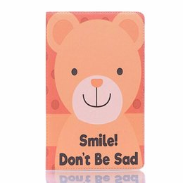 $enCountryForm.capitalKeyWord UK - Generic Cartoon Emboss PU Leather Tablet PC Folding Folio Case Protector For Hua Wei M5,M5 Pro - Smile,Don't be Sad