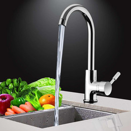 $enCountryForm.capitalKeyWord Australia - Kitchen 360Degree Rotatable Spout Sink Basin Water Faucet Curved Mixer Tap Bathroom Hot And Cold Single Handle Tap Faucet