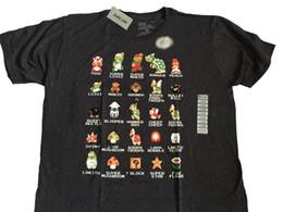 Discount video game bit - Super Mario Bros NES 8 Bit Cast Vintage Classic Video Game T Shirt Summer Men'S fashion Tee 2019 fashion t shirt