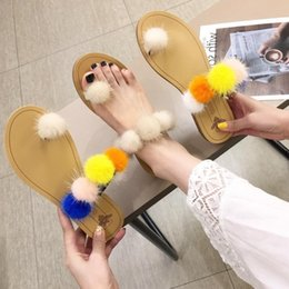 $enCountryForm.capitalKeyWord UK - Goddess2019 Cool Baby Ball Woman Xiacu Joker Low Other Clothes Flat Bottom With Slipper