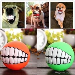 $enCountryForm.capitalKeyWord Australia - hot sale Funny Pets Dog Puppy Cat Ball Teeth Toy PVC Chew Sound Dogs Play Fetching Squeak Toys Pet Supplies