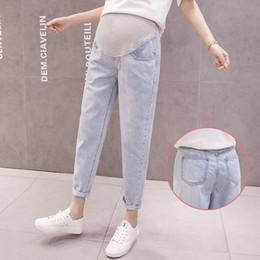 $enCountryForm.capitalKeyWord Australia - Loose Denim Pants Maternity Jeans For Pregnant Women Clothes Haren Casual Trousers Boyfriend Jeans Pregnancy Pants Clothing