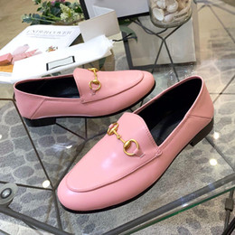 $enCountryForm.capitalKeyWord Australia - High quality two wear leather casual shoes semiflat flat shoes leather metal buckle decorative nonslip sexy street style ladies shoes qs