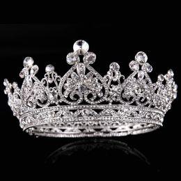 $enCountryForm.capitalKeyWord NZ - New Luxury Rhinestone Tiaras Queen Crown Wedding Hair Accessories Handmade Hair Jewelry Head Decorations Women Headpiece Y19051302