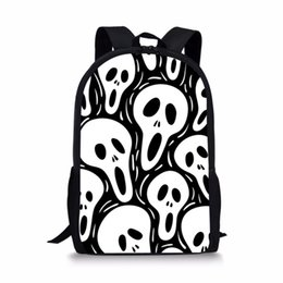 $enCountryForm.capitalKeyWord Australia - Skull School Backpack for Teenagers Boys Girls Street Rock Punk Women Daily Bagpack Men Harley Children School Bags DropShipping