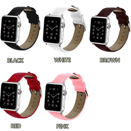 Red Smart Watches Australia - 44 42 40 38mm Crocodile Grain Leather Watch Bands 360L Wrist Strap Smart Watchband for Apple iWatch Series 1 2 3 4 Replacement with Opp Bag