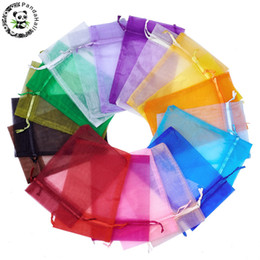 Chinese  200Pcs 15x10cm Organza Gift Bags Rectangle Mixed Color Drawstring Jewelry Pouch Wedding Favors Cheap Organza Pouches Decoration manufacturers