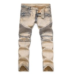 $enCountryForm.capitalKeyWord UK - Skinny Distressed Ripped Jeans For Men Plus Size 27-42 Mens Slim Motorcycle Moto Biker Cheap Jeans Denim Street Hip Hop Pants