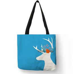 China Lucky Sika Floral Deer Printing Handbag For Women Fashion Street Shopping Shoulder Bag Lady Girls Casual Pretty Tote Bags cheap pretty girl handbags suppliers