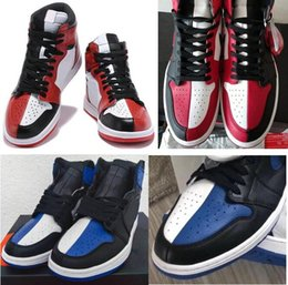 Discount women boxing - High Quality 1 Homage To Home Basketball Shoes Men Women 1s Black Red White Royal Blue Sports Sneakers With Box