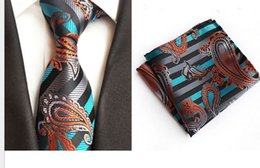 Blue Suit Yellow Tie Australia - Polyester silk jacquard material business leisure fashion suit tie