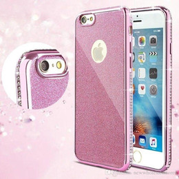 glitter bling frame UK - UK0001 Details about Cases For iphone X Glitter Bling Diamond Plating Frame Soft TPU Back Cover Case U289