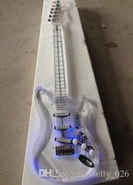 acrylic lighted electric guitar UK - Free shipping New style high quality Led light electric guitar with acrylic body korean quality pickups guitarra guitars