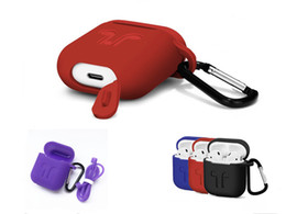 Retail package pouch online shopping - Protective Shockproof Silicone Case Pouch With Anti lost Strap Dust Plug Retail Package For iPhone Bluetooth Earphone