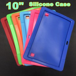 "tablet a83t Canada - Soft Colorful Silicone Rubber Gel Case Cover For 10"" 10.1 Inch A83T A33 A31S Android Tablet pc MID Free shipping 6 color"