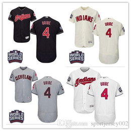 98bcb7f27 Cleveland 2019 Men's Women's Youth Indians 4 Juan Uribe Majestic Black  Alternate Authentic Flex Base Custom Baseball Jerseys