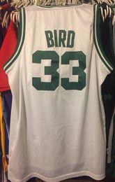 783bb28e62d Cheap wholesale Larry Bird Jersey Men White Home #33 Sewn T-shirt vest  Stitched Basketball jerseys Ncaa
